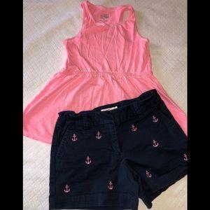 Vineyard vines anchor shorts & Justice pink top 10